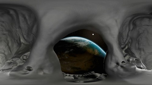 Orbiting Earth in a virtual reality skull is a great way to remember you're going to die