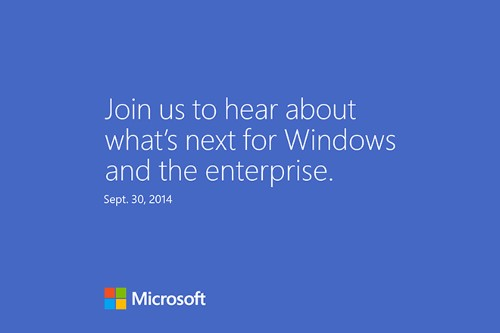 Microsoft announces Windows 9 event in San Francisco on September 30th