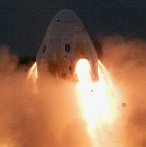 SpaceX's Crew Dragon spacecraft just fired up its emergency escape engines