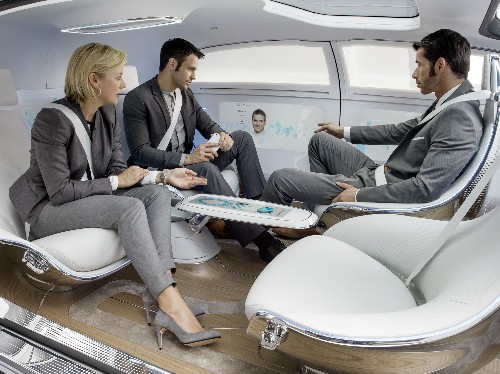 Riding in the Mercedes-Benz F 015