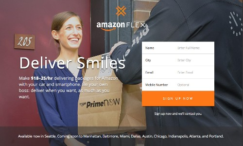Amazon will now pay you to deliver packages