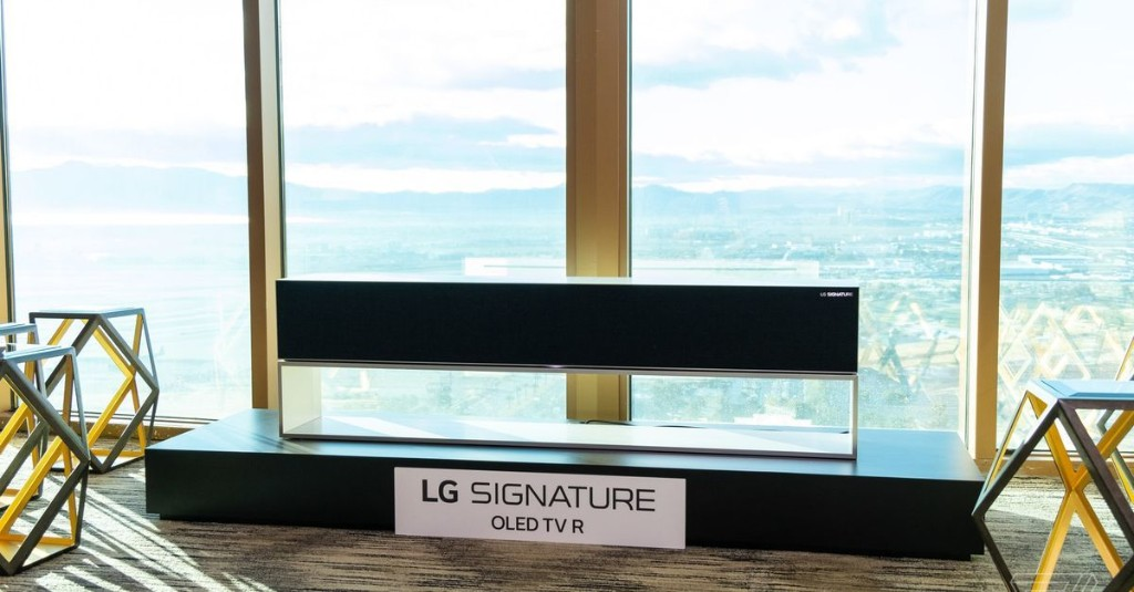 LG's rollable TV finally goes on sale for $87,000