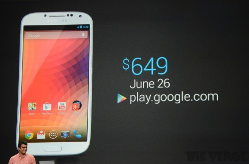 Google turns the Samsung Galaxy S4 into a Nexus phone, coming June 26th for $649