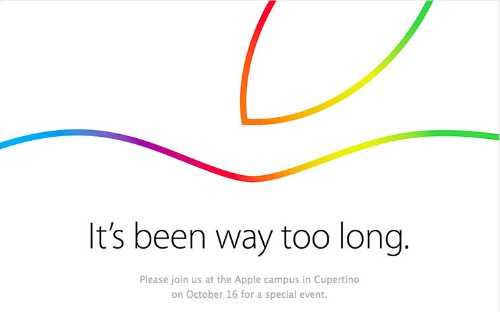 Apple's next event is October 16th: 'it's been way too long'