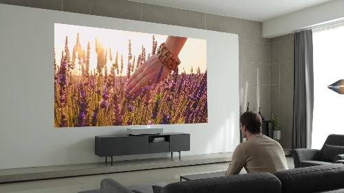 LG's second-gen 4K laser projector works from just two inches away from your wall