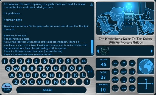 The Classics: 'The Hitchhiker's Guide to the Galaxy' text adventure