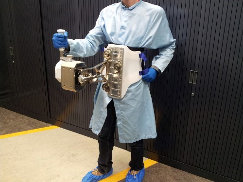 European Space Agency testing 'touchy-feely' robot-controlling joystick