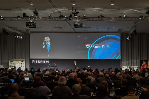 Fujifilm shows off world's first f/1 lens for mirrorless cameras