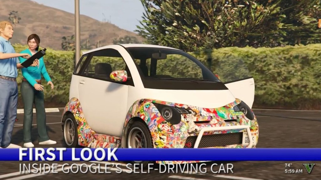 In San Andreas, Google's self-driving car still needs some work
