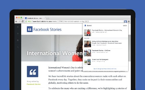 Facebook releases Chrome extensions for sharing and saving articles