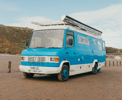 Shabby-chic camper van is a beachy tiny home on wheels