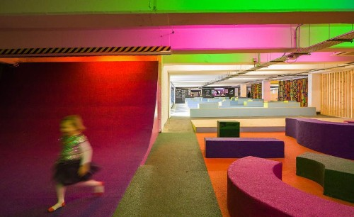 Disused parking garage transformed into community hub in London