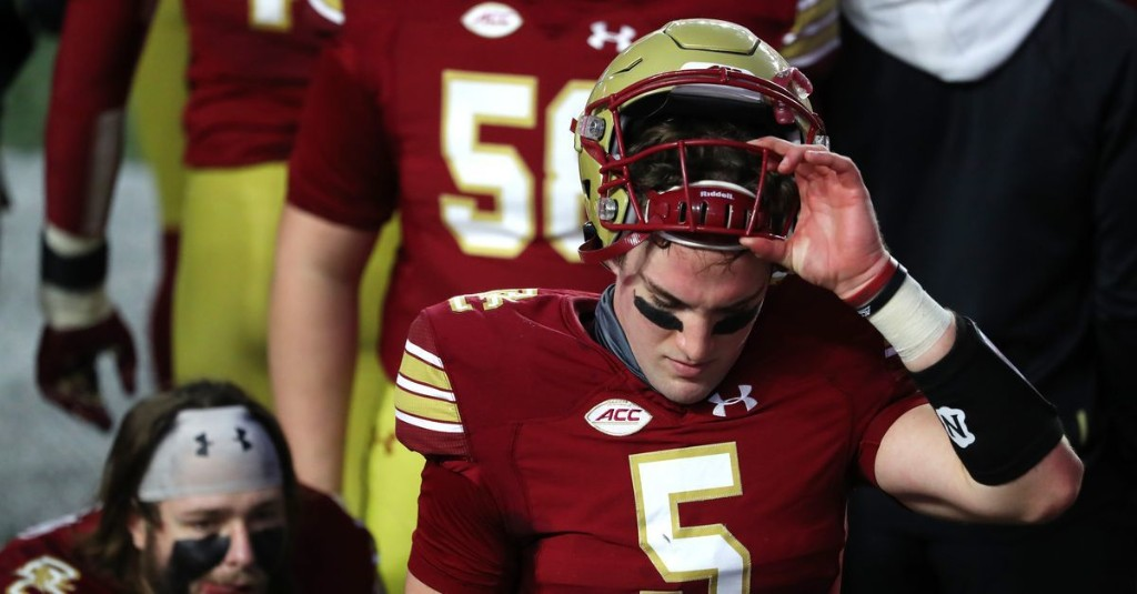 Phil Jurkovec, David Bailey Scratched for Boston College Football's Game v. Virginia