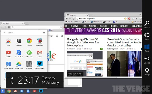 Google brings Chrome OS straight into Windows 8 in latest update