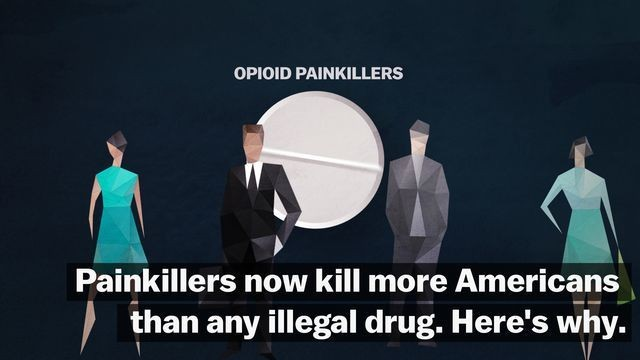 Opioid epidemic  - Magazine cover