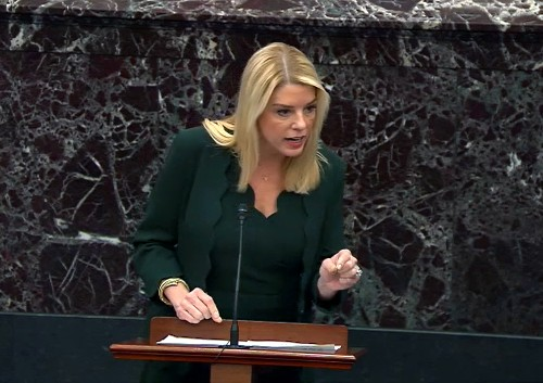 Pam Bondi's been a punchline during the impeachment trial. But her role speaks to something important.