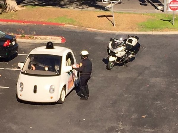 Google's self-driving car got pulled over for driving too slow