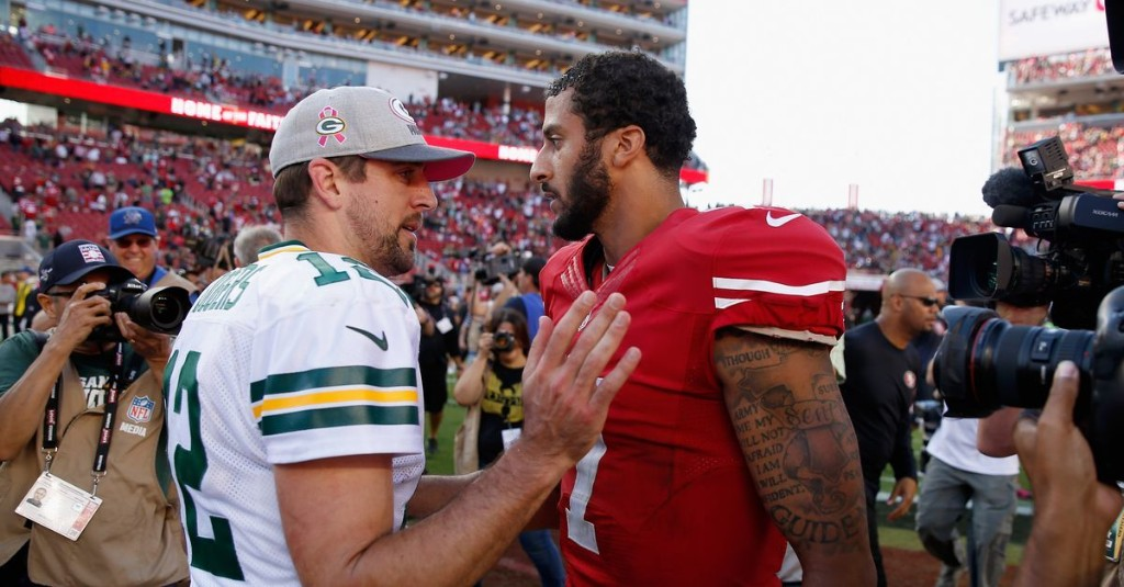 Aaron Rodgers believes Colin Kaepernick's protests are the reason he's unsigned
