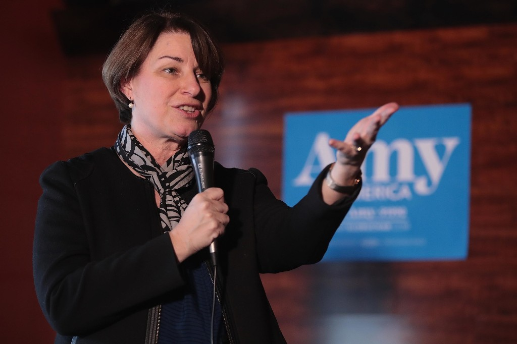 Amy Klobuchar suggests taxing companies making money off user data