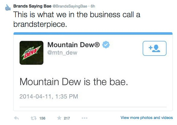 Brands Saying Bae is the Twitter account we've needed in 2014