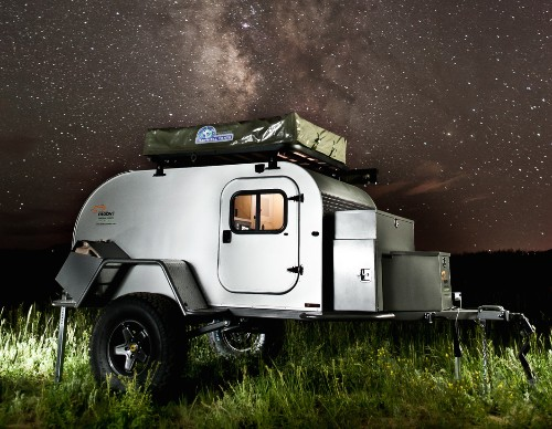 Tiny teardrop trailer can tackle any terrain