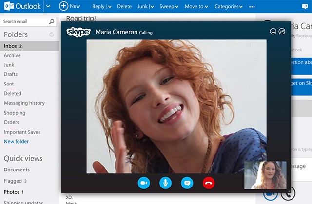 Skype video calling launches for Outlook.com, available in UK today and US in 'coming weeks'