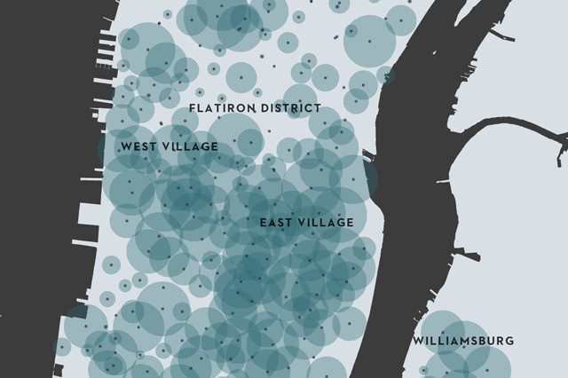 See the ebb and flow of Citi Bikes in New York City