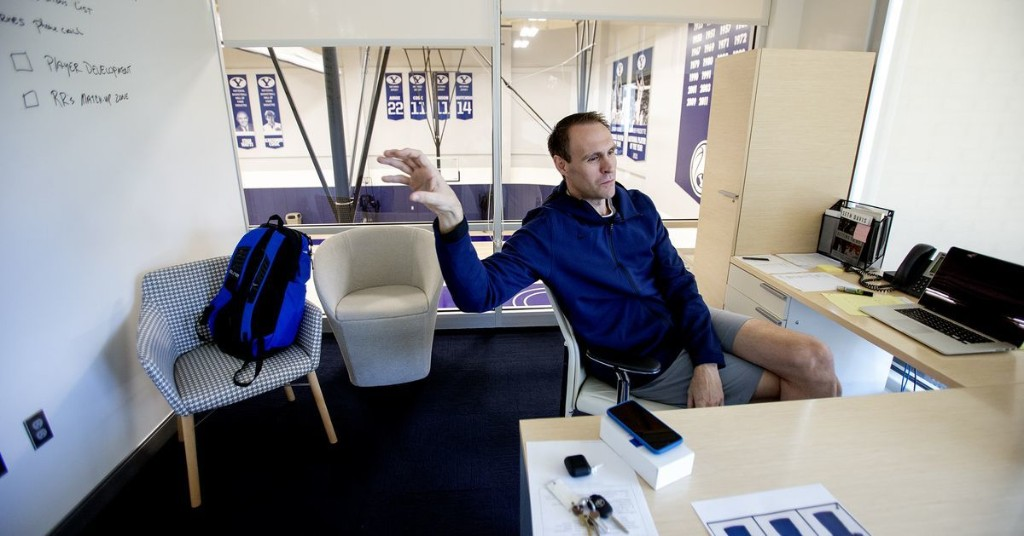 How Chris Burgess, a former Blue Devil and Ute, now pitches the BYU hoops program