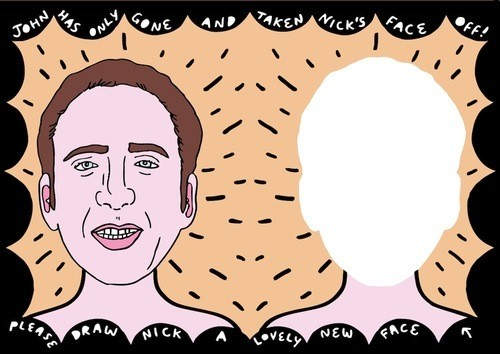 Live out your wildest Nicolas Cage fantasies with this 32-page activity book