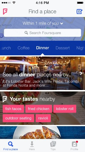 Foursquare 8.0 review: the ultimate food-finder