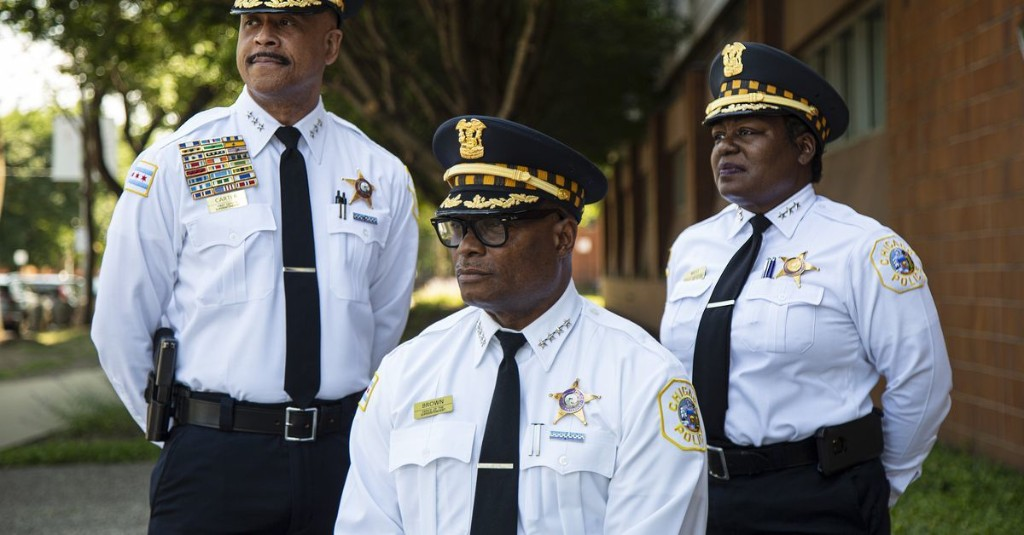 For 1st time in Chicago Police history, top 3 brass are African American