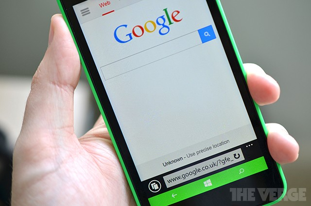 Microsoft won't let you set Google as default search on some new Lumias