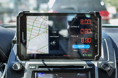 Yellow taxis have a new weapon in their war against Uber: gadgets
