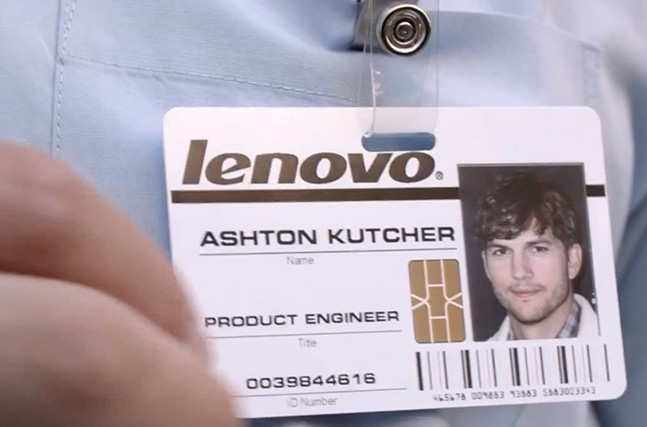 Ashton Kutcher is now a Lenovo product engineer