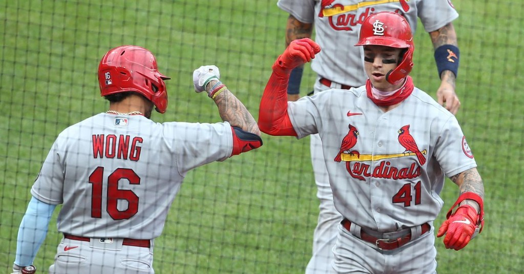 Cards Overcome Sloppy Defense and 8 Walks to Survive Pirates 6-5 in Game 1