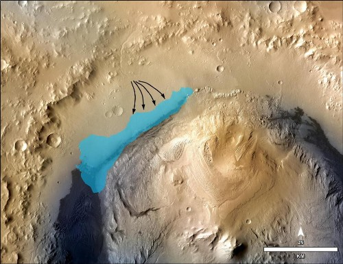 Martian lake was able to support life for thousands of years