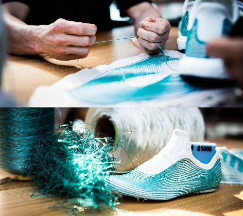 Adidas' limited edition sneakers are made from recycled ocean waste