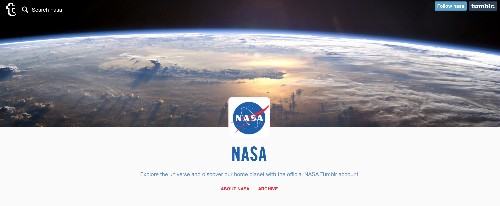 NASA joins Tumblr to deliver 'a regular dose of space'