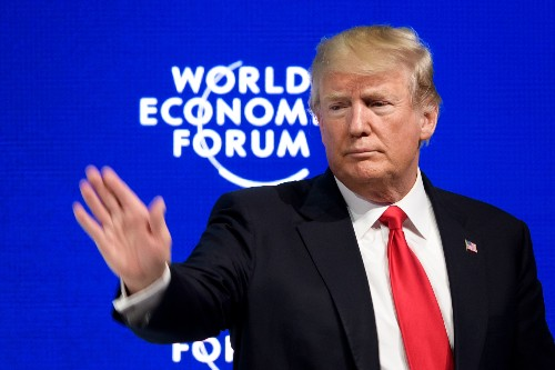At Davos, President Trump sold out candidate Trump