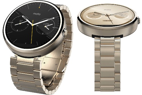 A gold Moto 360 is coming soon, according to Amazon