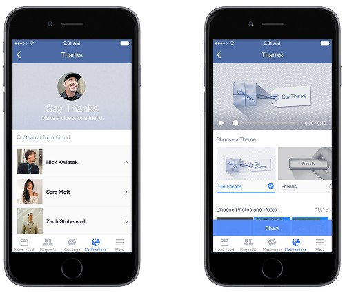 Facebook releases 'Say Thanks' video creation tool in time for Thanksgiving