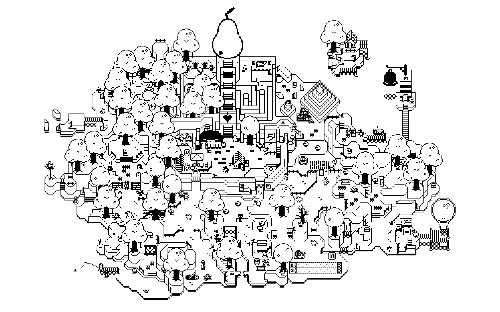 Pear Quest is like playing an adventure game in a Where's Waldo? illustration