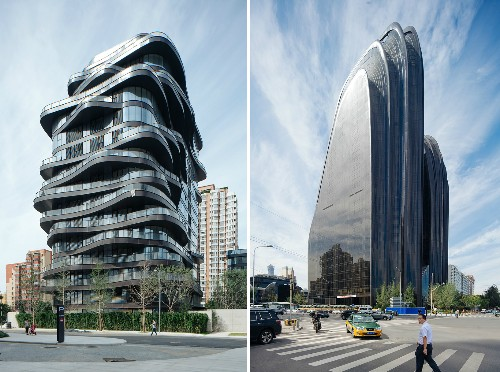 Striking skyscrapers inspired by mountains and stones rise in Beijing