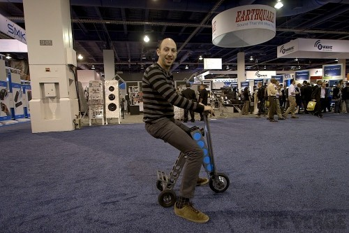 Urb-E is a foldable electric scooter that makes your commute a weird, wild ride