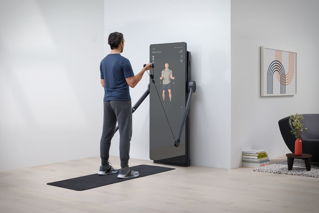 This Yves Behar-designed smart weight trainer is the love child of Mirror and Tonal