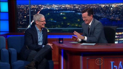 Tim Cook tells Stephen Colbert he hates 'opportunistic' Steve Jobs movies