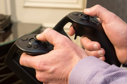 Move your arms in virtual reality with Sixense's motion-tracking Stem Controllers