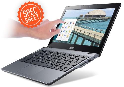 Spec Sheet: Acer's and HP's Chromebooks battle over price and power