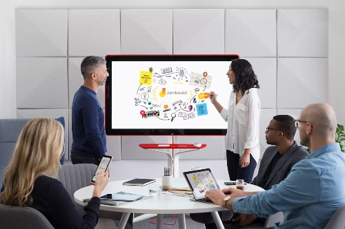 Google's answer to Microsoft's Surface Hub is an equally giant digital whiteboard