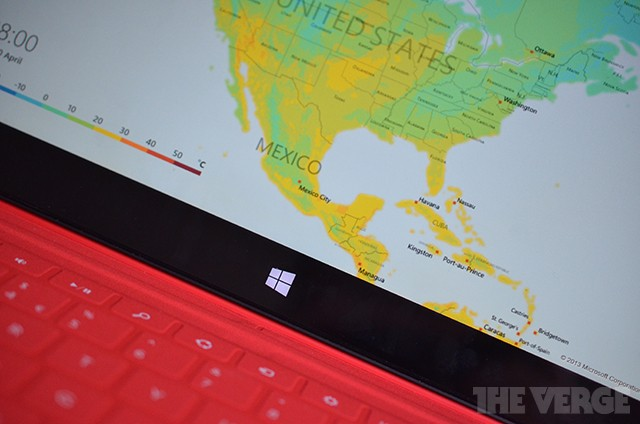 Windows 8 Weather app updated with interactive maps and ski resort info